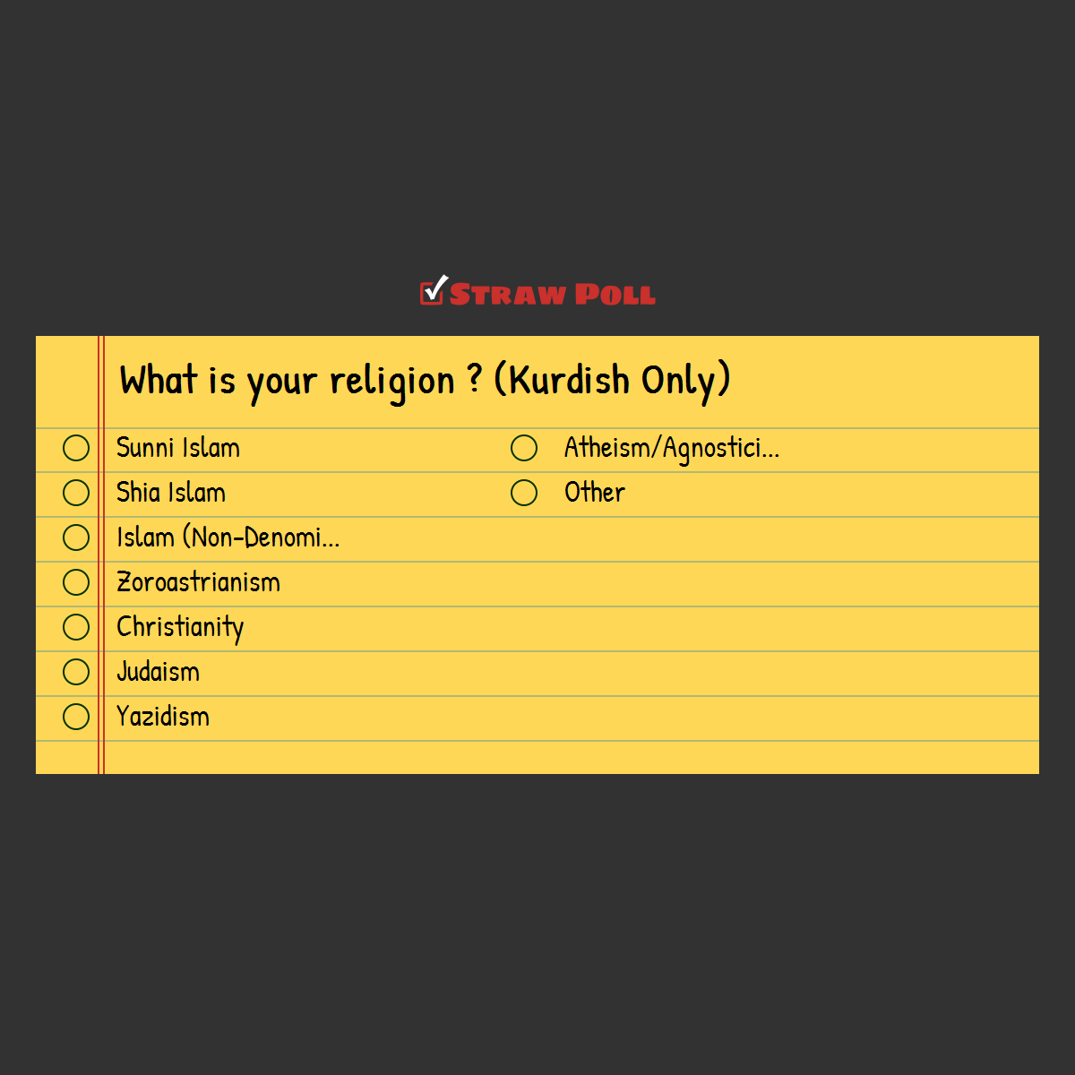 What is your religion ? (Kurdish Only)